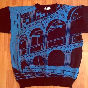VTG 80s Oversized Sweater Sparkle City